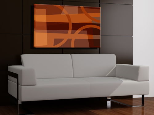 Abstract graphical shapes with different shades of colors, modern contemporary simple design.