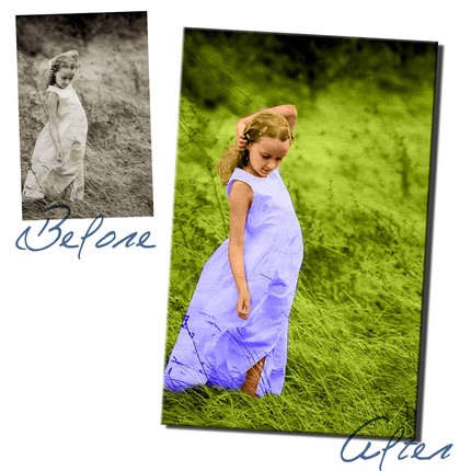 Convert your Black and White Photo to Full Color
